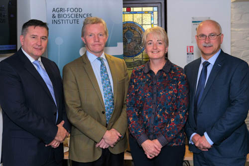 AIC Director, Declan Billington with James McCulloch, Head of Feed Sector, Roberta Reeve, Technical Manager, AIC Services and David Garrett, President of NIGTA.