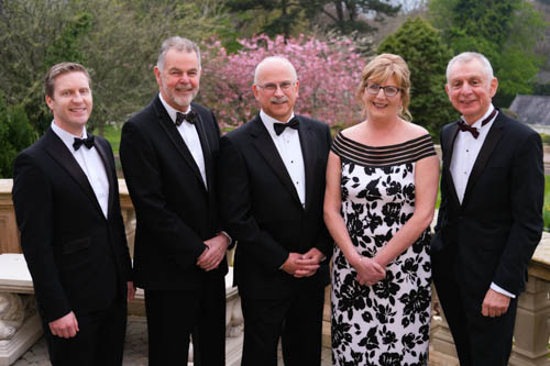 Pictured at the Northern Ireland Grain Trade Association Annual Dinner were, from left: Gary McIntyre, Speaker; Geoff Miller, Guest Speaker; David Garrett, President, NIGTA; Ruth Brammal, NIGTA and Robin Irvine, Chief Executive, NIGTA. Photograph: Columba O'Hare/ Newry.ie