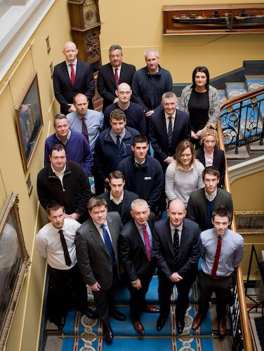 The attendees at NIGTA's first Trade Awareness Course pictured at the Harbour Commissioners Office.